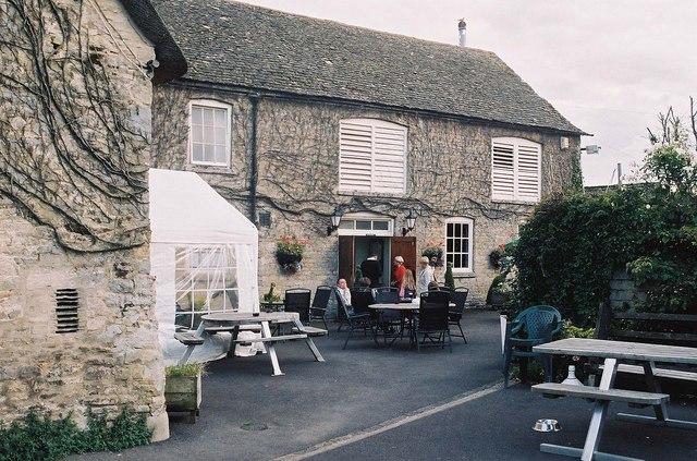 The Bell Inn (2) - beer garden, 21 Standlake Road, Ducklington