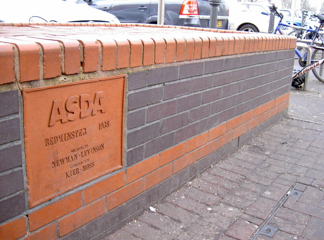 Commemorative stone among the brickwork