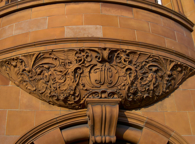 Terracotta feature on the old Wills building