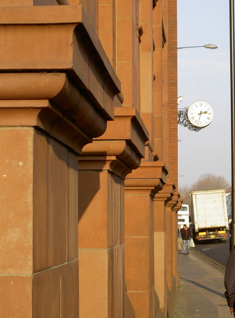 Colonnade and clock
