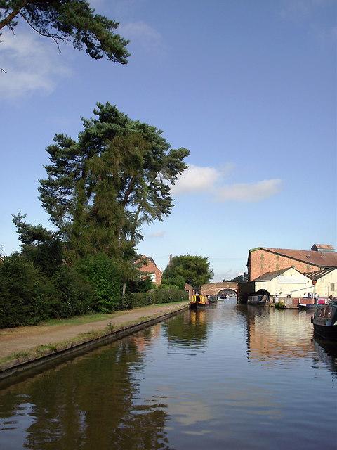 Shropshire Union Canal at Market Drayton, Shropshire