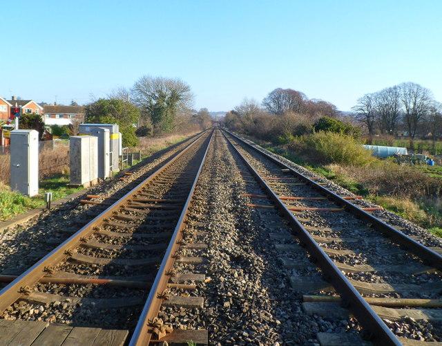 Railway lines east of Ebley level crossing