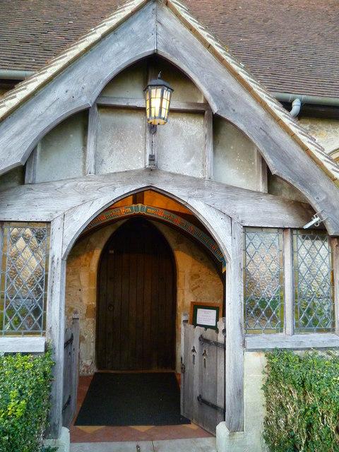 Birdham church porch