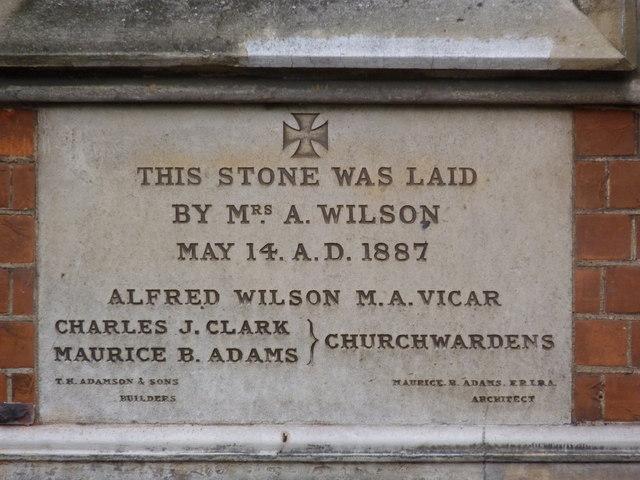 St Michael and All Angels Parish Hall, foundation stone