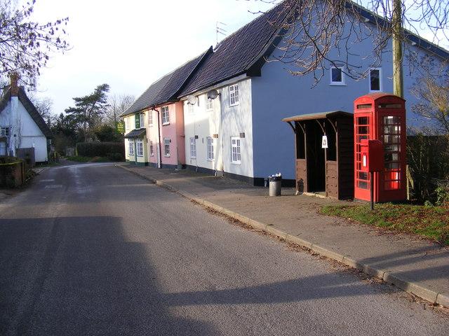 The Street, Mendham & Sir Alfred Munnings Hotel Postbox
