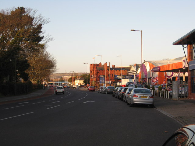 A scene on the A2047 at Hilsea, Portsmouth