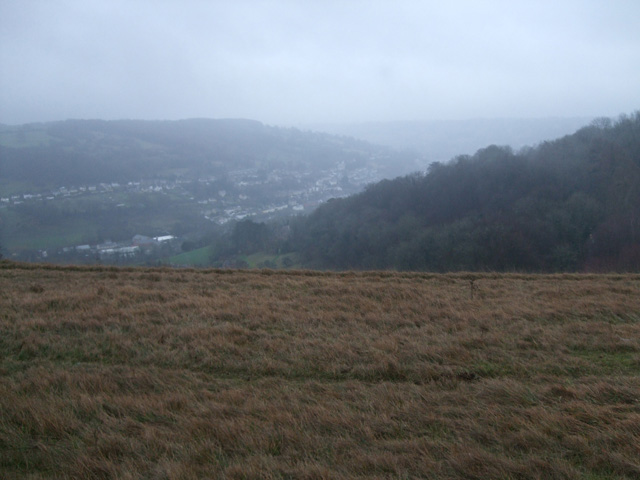 View from Rodborough Common in winter