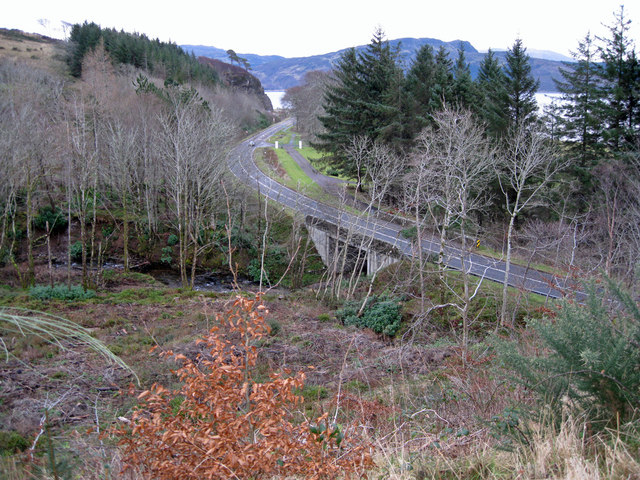 The A87 from Lochalsh Woodland Park