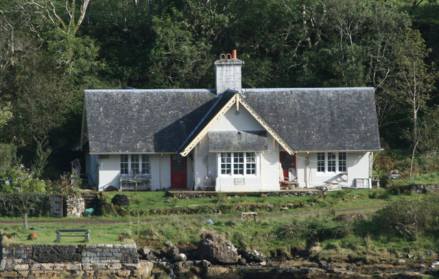 Cottage by the narrows of Loch Aline