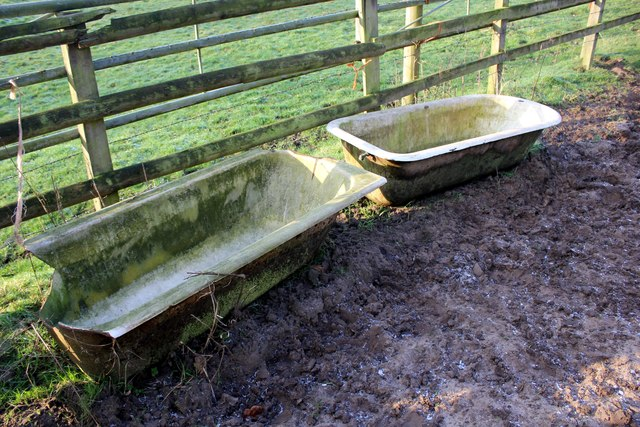 Cast iron baths on the Delamere Way