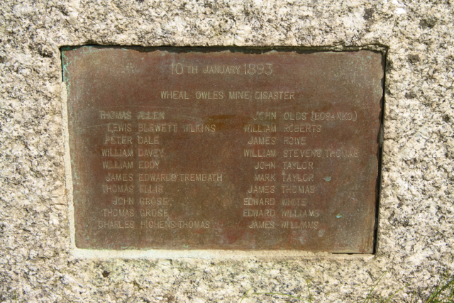 Wheal Owles Mine Disaster memorial