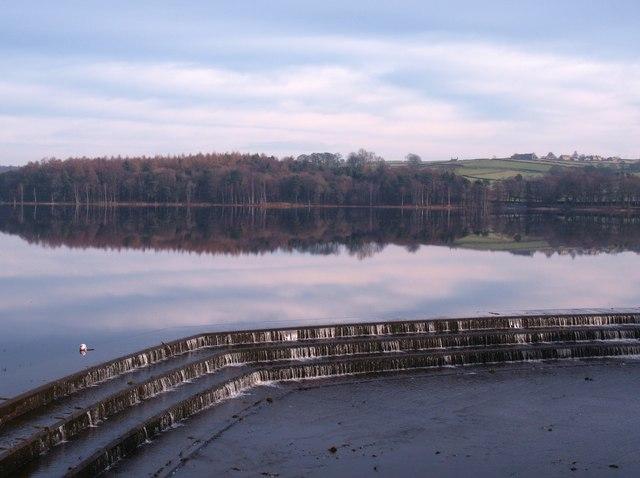 Top of the Swinsty dam spillway