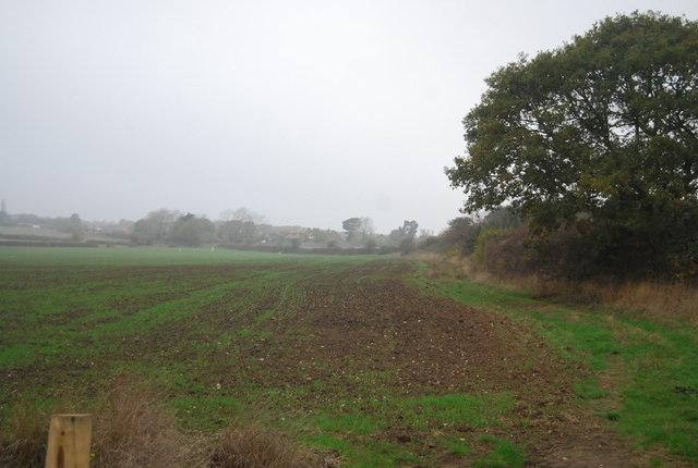 Edge of a field near Ridgeway Farm