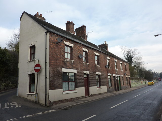 Brick built terraced cottages, Mayfield Road
