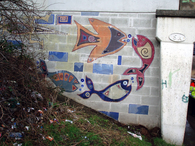 Artwork on Bridge No.5a Leeds Liverpool Canal.