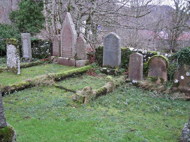 Quiet corner of Kirkton churchyard