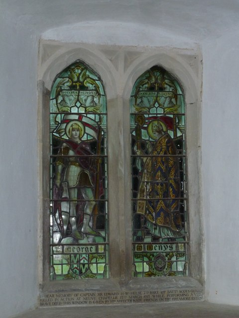St Mary's Church, Breamore- stained glass window (1)