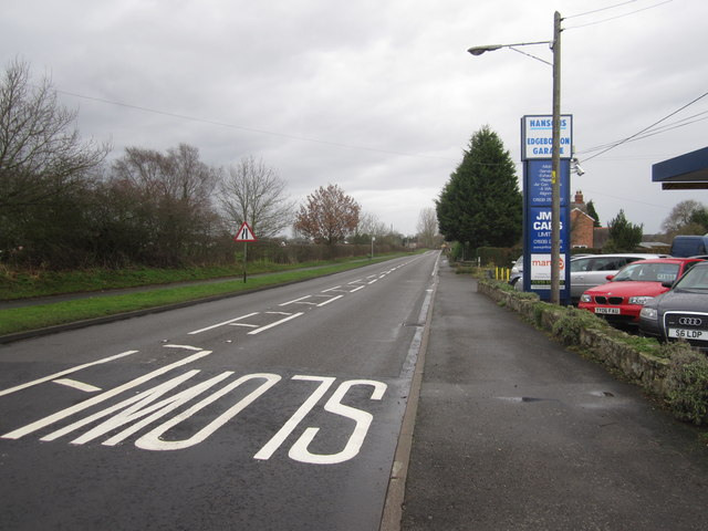 A53 Approaching Shawbury from Market Drayton