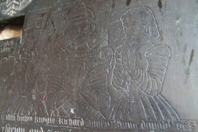 Detail of Disney Brass, St Peter's church