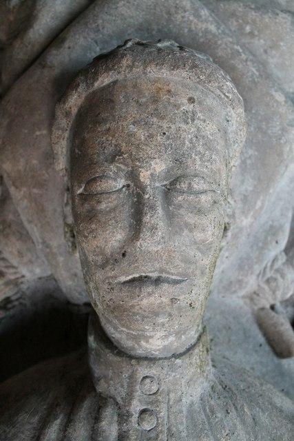 Detail of Hautacia Effigy, Norton Disney church