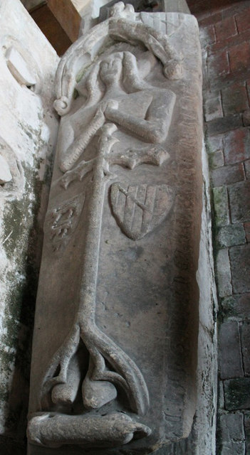 Tomb of Joan Disney, St Peter's church, Norton Disney
