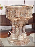 SY6778 : Holy Trinity Font, Weymouth by Colin Smith