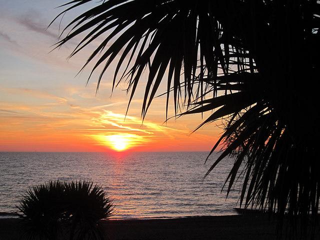 Sunrise over Eastbourne Beach