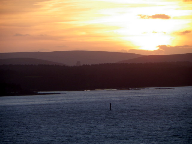 Sunset over the Purbecks