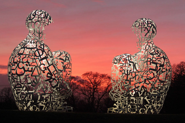 Spiegel by Jaume Plensa taken at The Yorkshire Sculpture Park