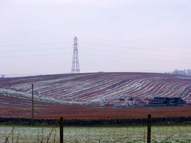 Muirmailing, ploughed fields