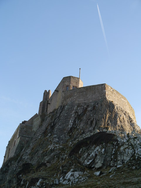 Lindisfarne Castle On A Cold January Day