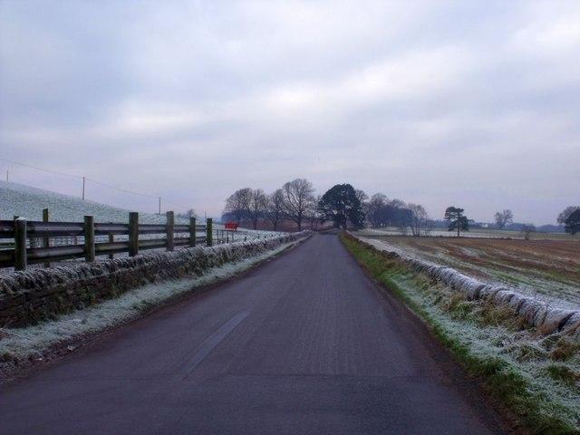 Roman road, West Plean