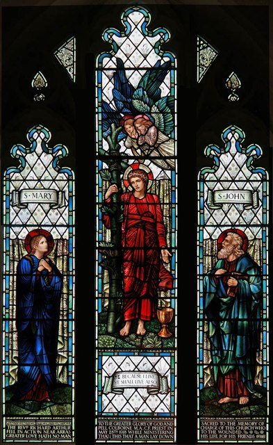 St John the Divine, High Path, Merton - Stained glass window