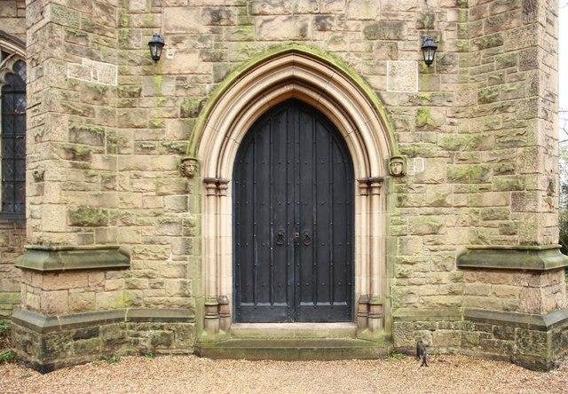 St John the Divine, High Path, Merton - Doorway