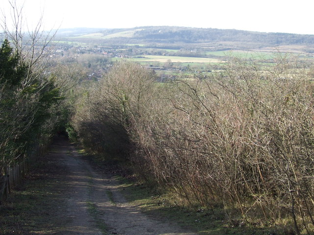 North Downs Way at Otford Mount