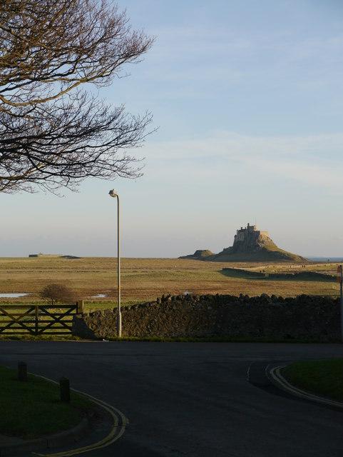 Lindisfarne Castle From Green Lane Car Park