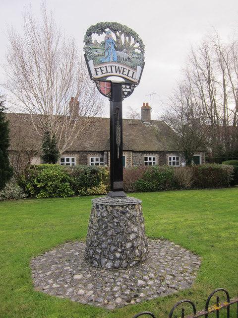 Village sign, Feltwell