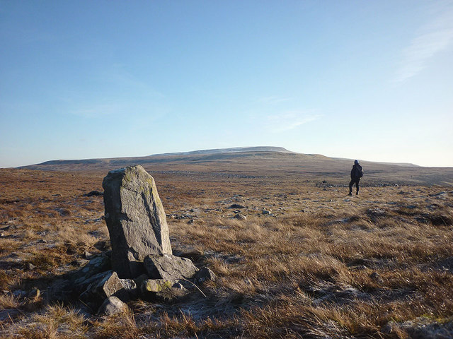 Upright stone, Maiden Way on Melmerby Fell