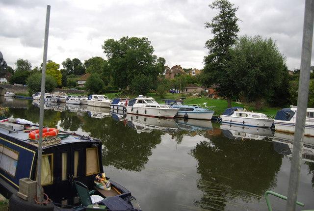 Boats moored at East Farleigh