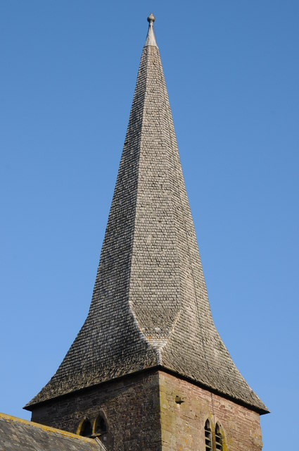 Llantilio Crossenny church  spire