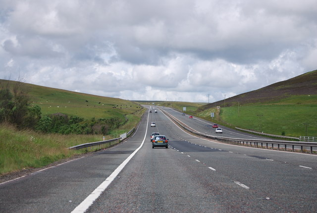 M74 heading north
