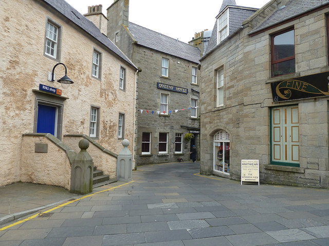 RNLI and Queens Hotel, Commercial Street, Lerwick