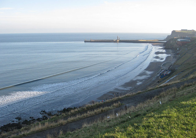 View of Whitby harbour from the Cleveland Way