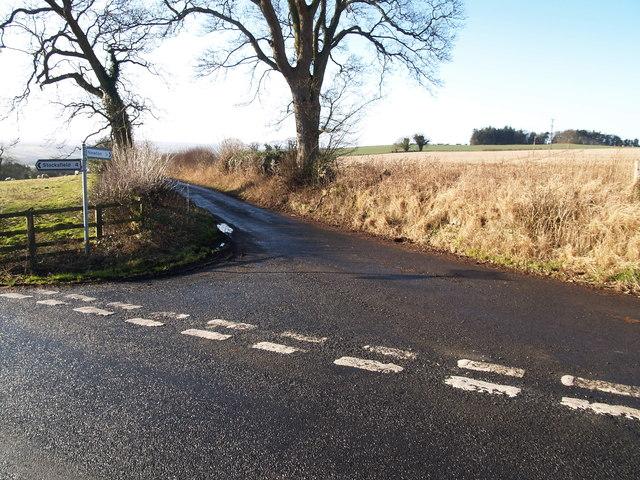 Junction on lane to Newton