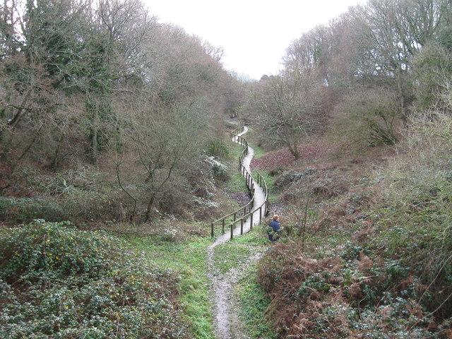 Pathway along disused Railway line