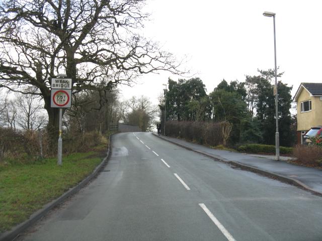 Knutsford - railway bridge on Blackhill Lane