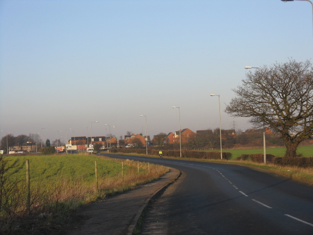 A573 looking toward the East Lancs Road (A580)