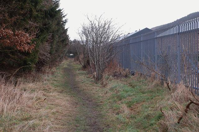 Old railway line entering Innerleithen