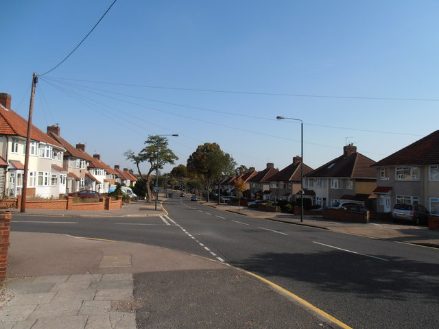 Latham Road at junction with Highland Road