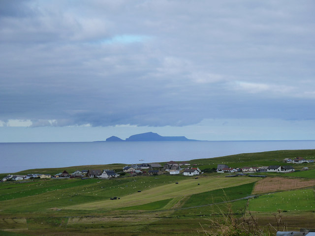 View over Bigton to Foula